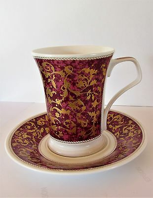 Stunning Mantua Dunoon Pottery Tall Cup / Mug & Saucer In Unused Condition