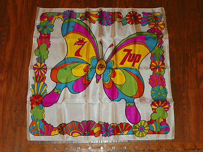 Seagram's & 7 Up 7Up Vintage Scarf Peter Max Style Made In Italy Whiskey