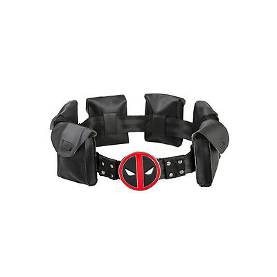 US SHIP Deadpool X-Men Superhero Metal Belt Accessories Costume Cosplay Props