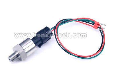 0.3m Wire Pressure Transducer or Sender Sensor for Oil,Fuel,Diesel,Gas,Air,Water