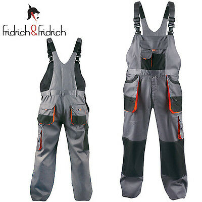Mens Overalls Bib and Brace Work Trousers Multi Pocket Bib Pants Knee Pad Insert