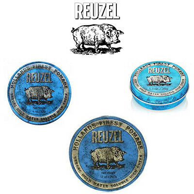 Reuzel - Blue Strong Hold Water Soluble High Sheen Azul Cera Blu Vari Formati