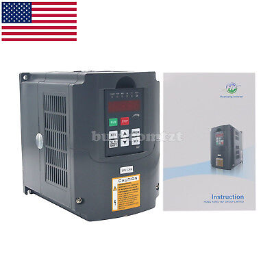 3HP 2.2KW 220V Variable Frequency Drive Inverter VFD 3HP 10A RS-485 US