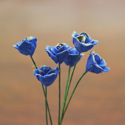 Blue Roses BLUELOVER Flower Dollhouse Miniature Plants One Inch Scale 1:12