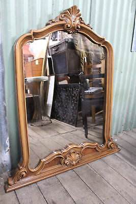 A Lovely Ornate Over Mantle Mirror
