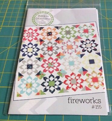 FIREWORKS  - THIMBLE BLOSSOMS  By Camille Roskelly