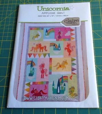 UNICORNIA APPLIQUE QUILT PATTERN by Claire Turpin Design