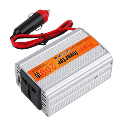 200W Car Auto Inverter Power Supply Adapter 12V DC to 220V AC Laptop Compute !@