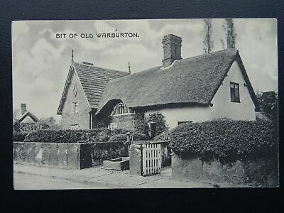 Greater Manchester WARBURTON Cottage & Old Water Pump c1907 Postcard by Rajar