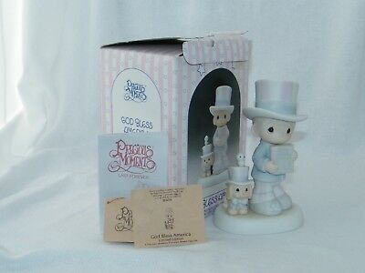 New - Enesco Precious Moments: God Bless America 1986 Limited Edition Figurine