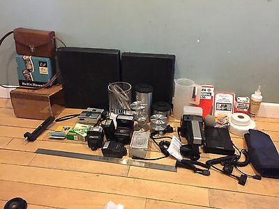 Lot of Camera Equipment - Film development AFGA, Archival, Instamatic cameras ++