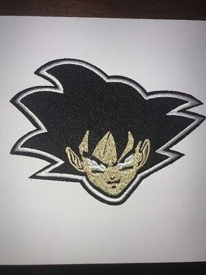 """Dragon Ball Z Large Patch Goku Face Embroidered Iron On Sew On Us Seller 4.7"""""""