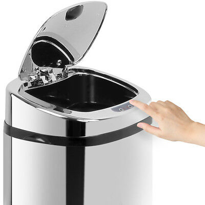 50L Automatic Motion Sensor Rubbish Bin Hands Free Waste Basket Trash Can