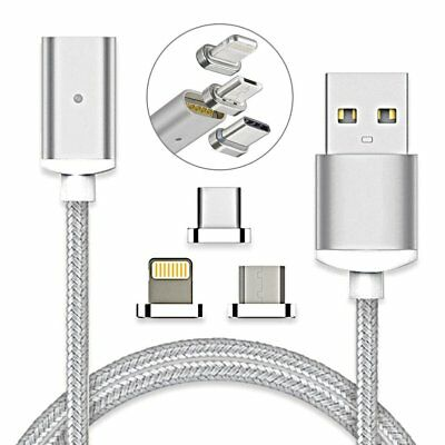 3 in 1 Magnetic Charging Data Cable Charger Adapter for iPhone Micro USB Type-C