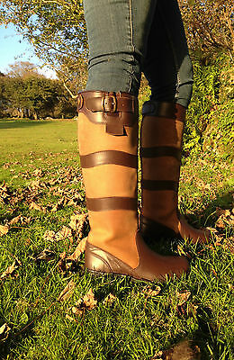 HORSE RIDING YARD COUNTRY BOOTS LEATHER sizes 4 - 12 adult UK