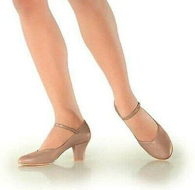 So Danca CH52 Tan Student Footlight Stage Shoes - 2'' Heel