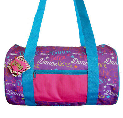 FREE SHIPPING Purple with Multicolor Dance Bag Duffel