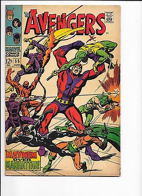 Marvel Comics Avengers Issue No 55 FN-? 1st Ultron Cents Copy
