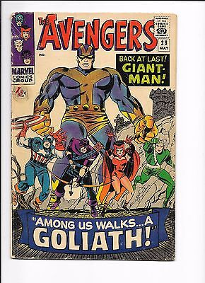 Marvel Comics The Avengers  Issue No 28 VG Giant Man 1st Appearance Collector