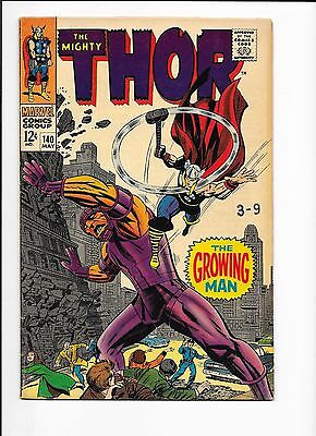 Marvel Comics The Mighty Thor Issue No 140 FN? Growin gMan