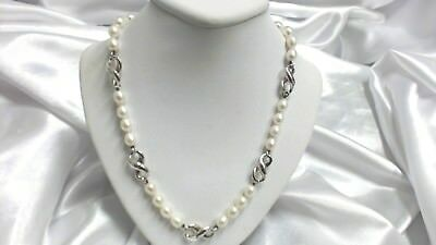 8a565933a Authentic Tiffany & Co. Freshwater Pearl 925 Sterling Silver Infinity  Necklace