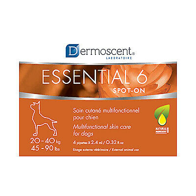 Dermoscent Essential 6 Spot-On for Dogs [44-88 lbs] (4 count)
