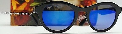 NEW Sunglasses Maui Jim LEIA Black w POLARIZED Blue Lens Women's Sunglass