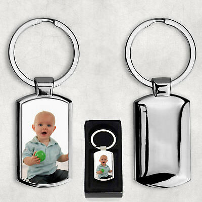 Personalised Photo Keyring - Metal - Your Own Image Printed **FREE DELIVERY**