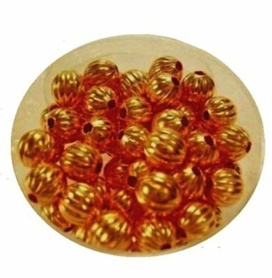 Copper Corrugated Round Beads / 6.3 MM / Pkg. of 72 /  Copper Beads