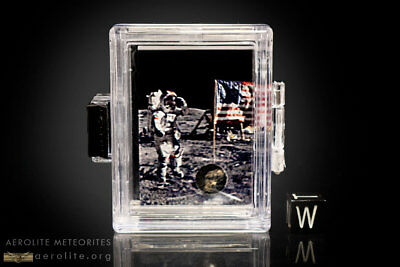 Lunar Meteorite Collectible With Astronaut Image