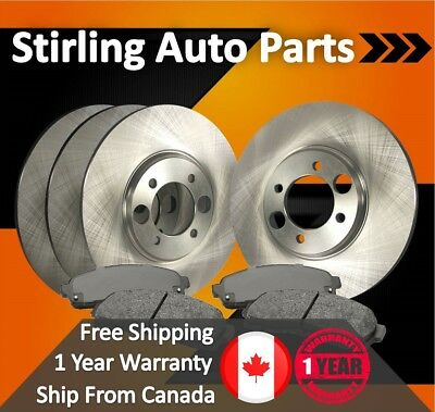 2013 2014 2015 for Ford Escape Front & Rear Brake Rotors and Pads 300mm Rotor
