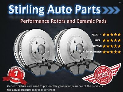 2011 2012 2013 Jeep Grand Cherokee Brake Rotors and Pads w/R-Vented Disc FullSet