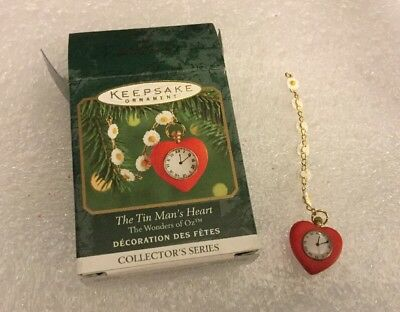 Hallmark Ornament THE TIN MAN'S HEART The Wizard of Oz Miniature New in Box 1999