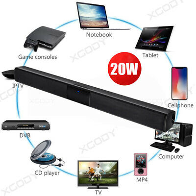 Home Slim TV Speaker XGODY Soundbar Home Theater Sound Bar 4.0 Channel Speaker