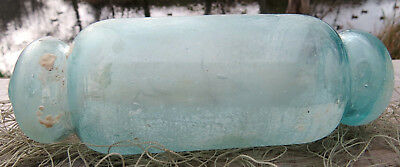"Japanese Blown Glass Float 6"" Roller MARINE MATTER Barnacles Sand-GLAZED Vintage"