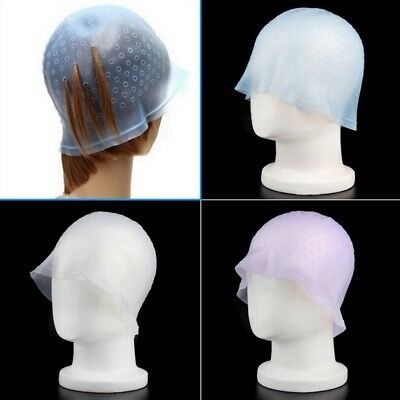 New Reusable Silicone Dye Hat Cap for Hair Coloring Highlighting Hair Salon