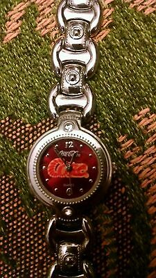 2002 coca cola quartz coke watch metal collectors stainless
