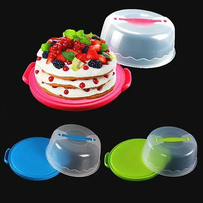 RECTANGLE LARGE PLASTIC Cake Storage Box Cupcake Caddy Carrier