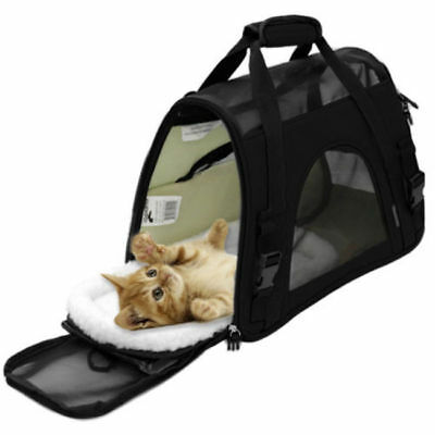 Pet Carrier Soft Sided Small Cat / Dog Comfort Airline Approved Travel Bag Totes