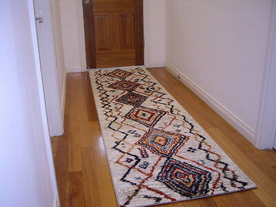 Hllway Runner Hall Runner Rug Modern Multi Colored 3 Metres Long x 80cm Wide