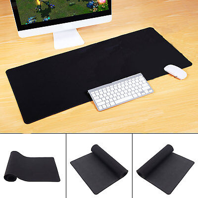 Extended XXL Gaming Mouse Pad Mat 900x300mm Big Size Desks Black Anti-Slip Large