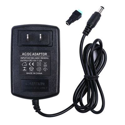 50x 12V 2A 24W Power Supply AC to DC Adapter for 3528 Flexible LED Strip Light