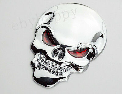 80mm Metal 3D Devil Skull Emblem Decal Sticker Badge For Harley Davidson Motors