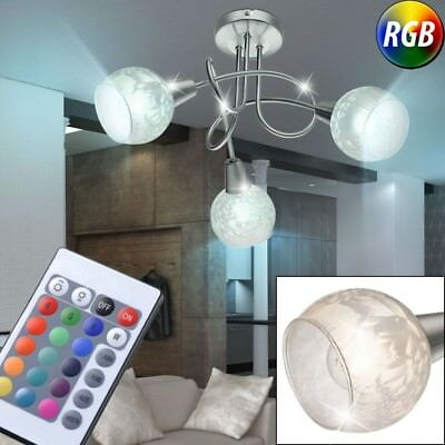 À Rgb Verre Télécommande Salle Led Dimmable Lampe Rondell Manger 9H2WIYED