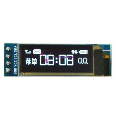 "IIC I2C 0.91""128x32 White OLED LCD Display Module 3.3v 5v FOR AVR STM32 Arduino"