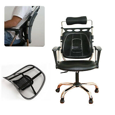 Car Seat Back Support Mesh Lumbar Mage Cushion Pain Relief Home Office Chair