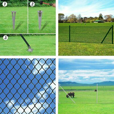 Chain-Link Fence Set Posts Spike Anchors Included Various 7 Sizes Selectable