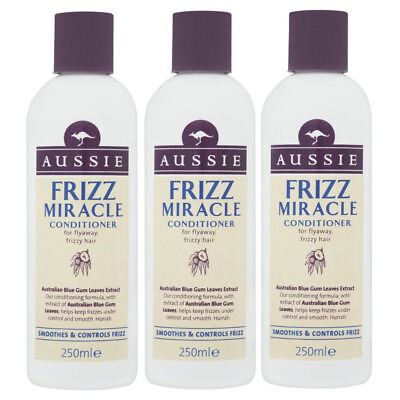 Aussie FRIZZ MIRACLE Conditioner (Pack of 3) Rescue for Frizzy Dry Unruly Hair