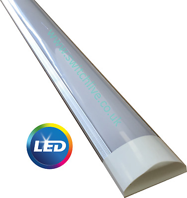LED Linear Batten Light Lamp Slim Ceiling Surface Mount Cool/Daylight White UK
