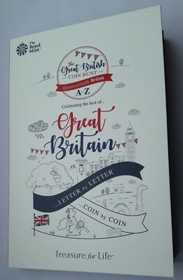 Great British Coin Hunt 10p Coin Album Folder 2018 Brand New A to Z Royal Mint.